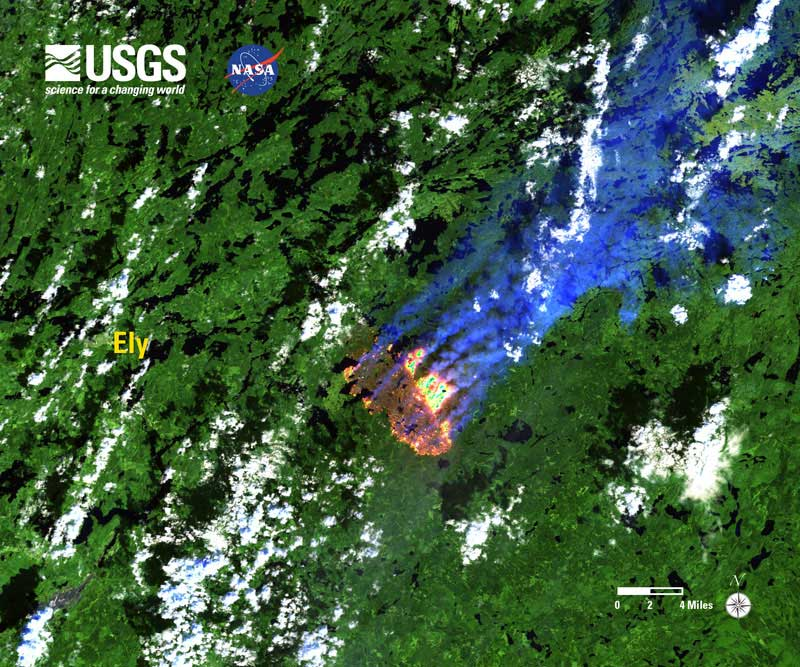 Pagami Creek Fire Map.About The Pagami Creek Fire Boundary Waters Outfitters North
