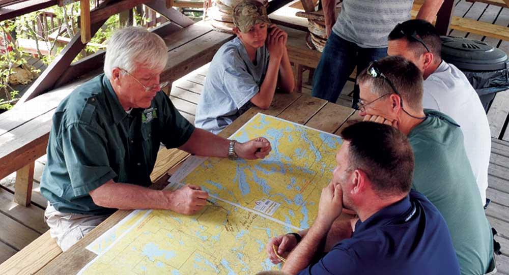 John mapping a trip