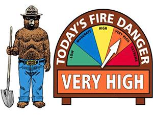 Very high fire danger
